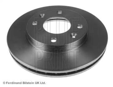 Вентилируемый передний тормозной диск на HYUNDAI MATRIX 'BLUE PRINT ADG04356'.