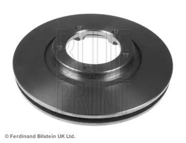 Вентилируемый передний тормозной диск на Митсубиси Л300 'BLUE PRINT ADG04361'.
