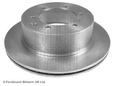 Вентилируемый задний тормозной диск на Хендай Терракан 'BLUE PRINT ADG04368'.