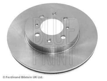 Вентилируемый передний тормозной диск на HONDA CRX 'BLUE PRINT ADH24329'.