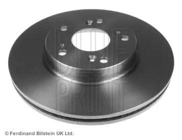 Вентилируемый передний тормозной диск на HONDA FR-V 'BLUE PRINT ADH24383'.