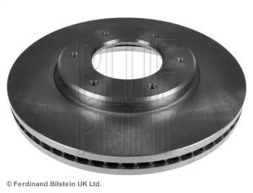 Вентилируемый передний тормозной диск на TOYOTA HIACE 'BLUE PRINT ADT343101'.