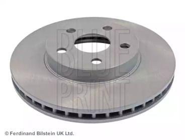 Вентилируемый передний тормозной диск на TOYOTA CELICA 'BLUE PRINT ADT343103'.