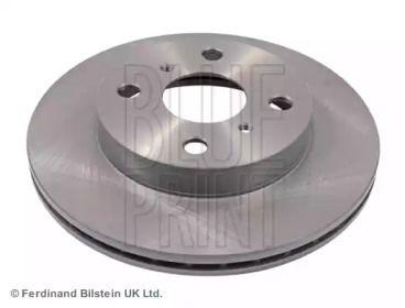 Вентилируемый передний тормозной диск на TOYOTA YARIS 'BLUE PRINT ADT343113'.