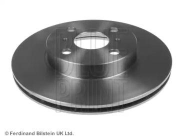 Вентилируемый передний тормозной диск на TOYOTA STARLET 'BLUE PRINT ADT343136'.