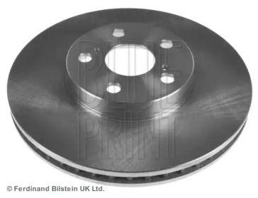 Вентилируемый передний тормозной диск на TOYOTA CELICA 'BLUE PRINT ADT343146'.