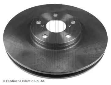Вентилируемый передний тормозной диск на TOYOTA SUPRA 'BLUE PRINT ADT343158'.