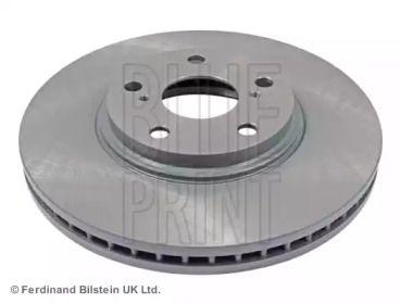 Вентилируемый передний тормозной диск на Тайота Хайлендер 'BLUE PRINT ADT343253'.