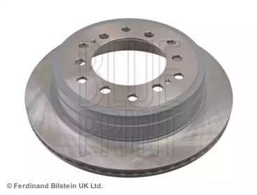 Вентилируемый задний тормозной диск на Тайота Ленд Крузер Прадо 'BLUE PRINT ADT343281'.