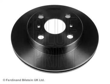 Вентилируемый передний тормозной диск на TOYOTA STARLET 'BLUE PRINT ADT34359'.