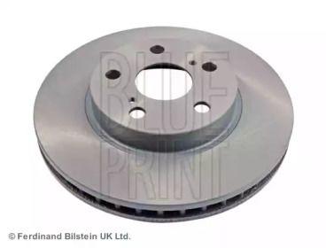 Вентилируемый передний тормозной диск на TOYOTA CALDINA 'BLUE PRINT ADT34364'.