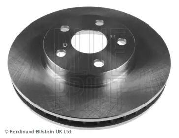 Вентилируемый передний тормозной диск на Тайота Карина 'BLUE PRINT ADT34380'.