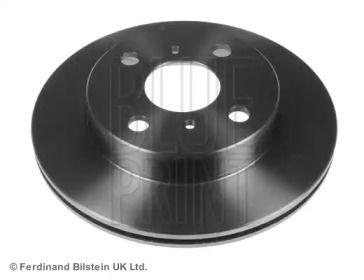 Вентилируемый передний тормозной диск на TOYOTA STARLET 'BLUE PRINT ADT34381'.