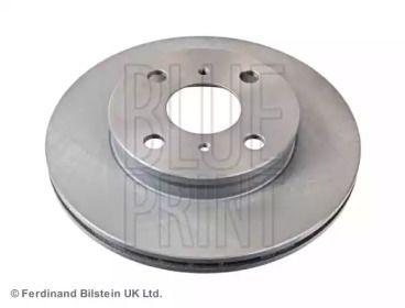 Вентилируемый передний тормозной диск на TOYOTA STARLET 'BLUE PRINT ADT34399'.