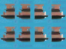 Скобы тормозных колодок на Шкода Октавия А5  SEINSA D42404A.