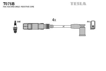 Высоковольтные провода зажигания на Шкода Октавия А5 TESLA T076B.