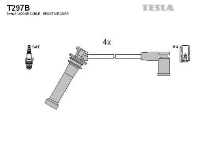 Високовольтні дроти запалювання на MAZDA MPV 'TESLA T297B'.
