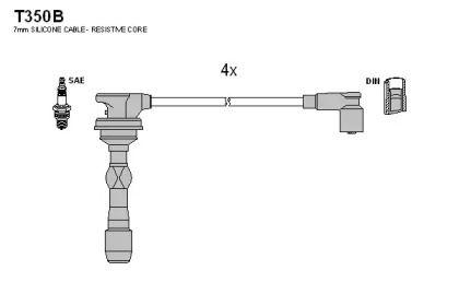 Высоковольтные провода зажигания TESLA T350B.