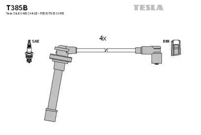 Высоковольтные провода зажигания TESLA T385B.
