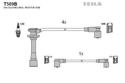 Высоковольтные провода зажигания TESLA T509B.