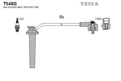 Высоковольтные провода зажигания TESLA T548G.