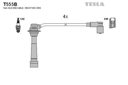 Високовольтні дроти запалювання на Мазда МХ5 TESLA T555B.