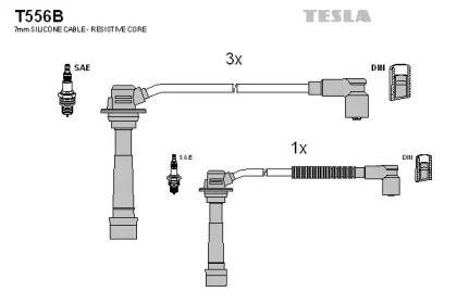 Високовольтні дроти запалювання на Мазда МХ3 'TESLA T556B'.