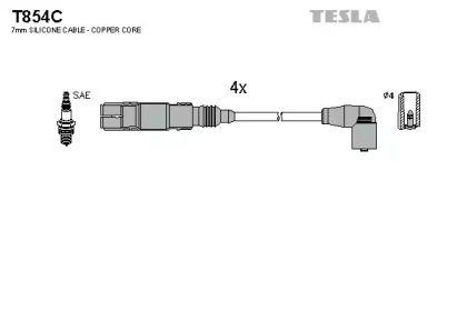 Высоковольтные провода зажигания на Шкода Октавия А5 TESLA T854C.