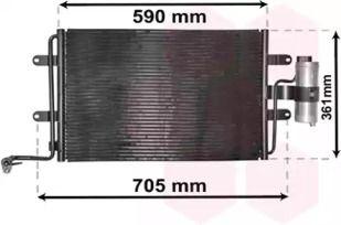 Радиатор кондиционера на Сеат Леон VAN WEZEL 03015130.