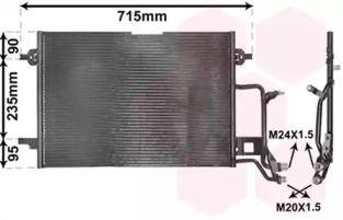 Радиатор кондиционера на VOLKSWAGEN PASSAT VAN WEZEL 03005116.