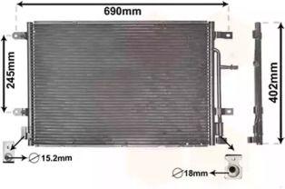 Радіатор кондиціонера VAN WEZEL 03005238.