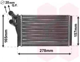 Радиатор печки на VOLKSWAGEN PASSAT 'VAN WEZEL 03006097'.
