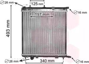 Радиатор охлаждения двигателя 'VAN WEZEL 09002188'.