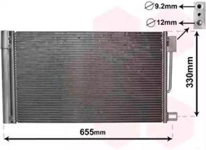 Радиатор кондиционера на Опель Адам 'VAN WEZEL 17005314'.