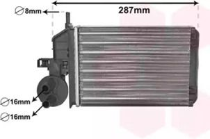 Радіатор печі VAN WEZEL 17006259.