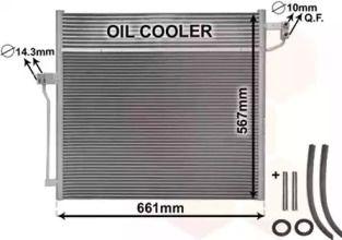 Радіатор кондиціонера на Мерседес Гл Клас  VAN WEZEL 30015704.