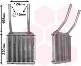 Радіатор печі VAN WEZEL 37006132.