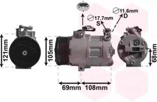 Компресор кондиціонера VAN WEZEL 3700K358.