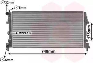 Радіатор охолодження двигуна на Шкода Рапід 'VAN WEZEL 49002037'.