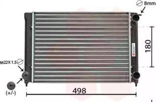Радиатор охлаждения двигателя на Фольксваген Джетта 'VAN WEZEL 58002040'.