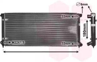 Радиатор охлаждения двигателя на Фольксваген Джетта 'VAN WEZEL 58002041'.