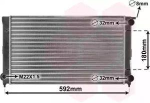 Радиатор охлаждения двигателя на Сеат Толедо 'VAN WEZEL 58002045'.