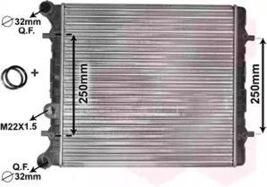 Радиатор охлаждения двигателя на Сеат Леон 'VAN WEZEL 58002152'.