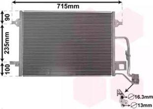 Радіатор кондиціонера 'VAN WEZEL 58005189'.