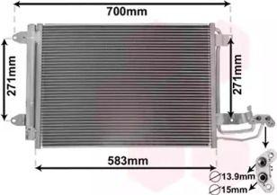 Радиатор кондиционера на SEAT LEON VAN WEZEL 58005209.