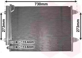 Радиатор кондиционера на VOLKSWAGEN PASSAT VAN WEZEL 58005225.
