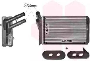 Радиатор печки на VOLKSWAGEN GOLF 'VAN WEZEL 58006060'.