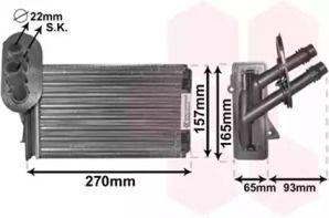 Радиатор печки на Фольксваген Гольф 'VAN WEZEL 58006173'.