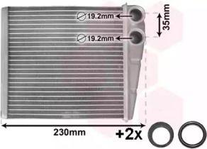 Радиатор печки на Шкода Октавия А5 'VAN WEZEL 58006229'.