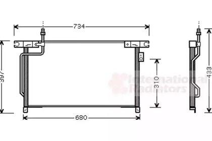 Радіатор кондиціонера VAN WEZEL 13005202.